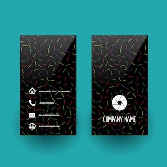 Cartão negócio, com, abstratos, padrão