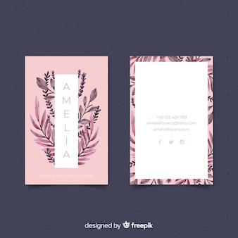 Cartão negócio, com, natureza, conceito