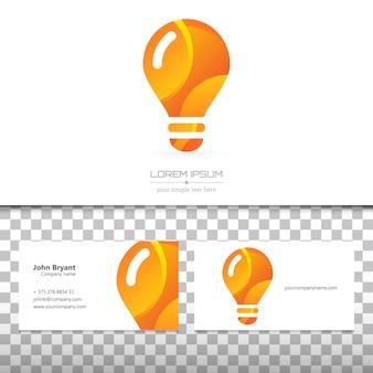 Cartão negócio, e, logotipo