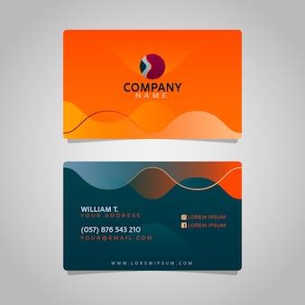 Cartão negócio, em, gradiente, estilo
