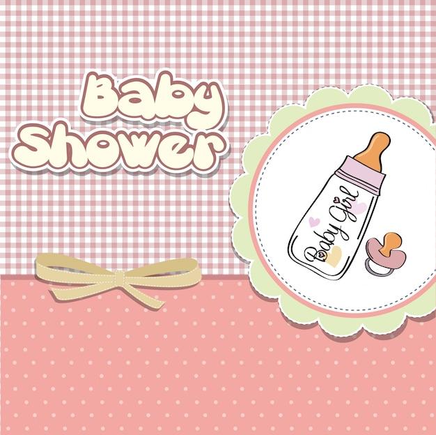 Cartão novo do anúncio do bebé