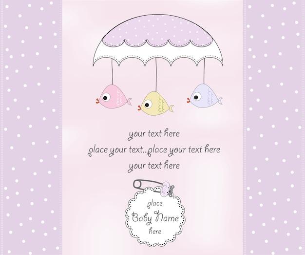 Cartão novo do chuveiro do bebé