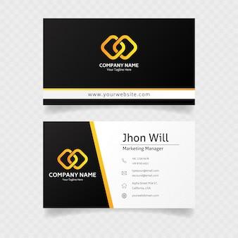 Cartão oficial em ouro com conceito elegante