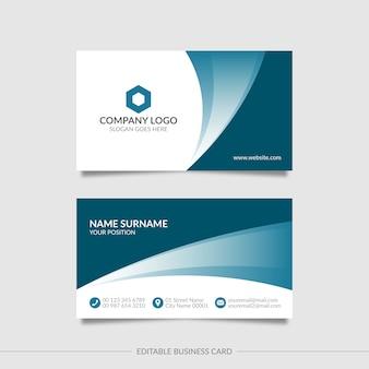 Cartão ondulado elegante editável