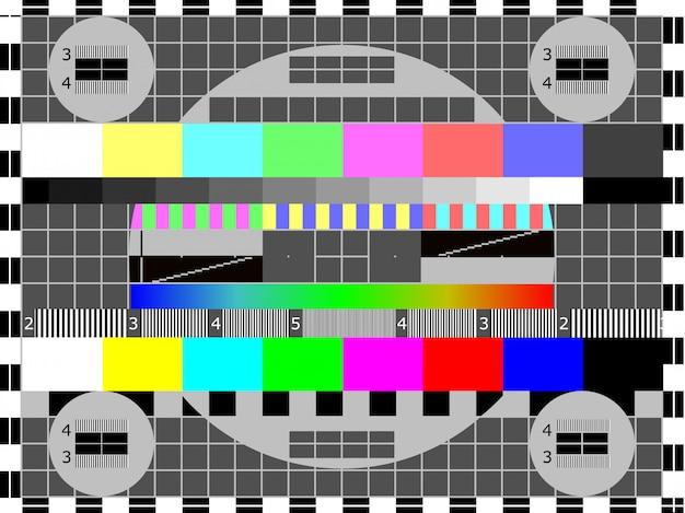 Cartão ou padrão de teste de televisão