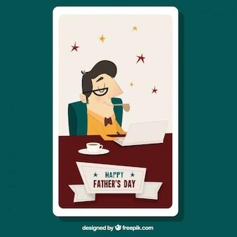 Cartão pai bom trabalhador