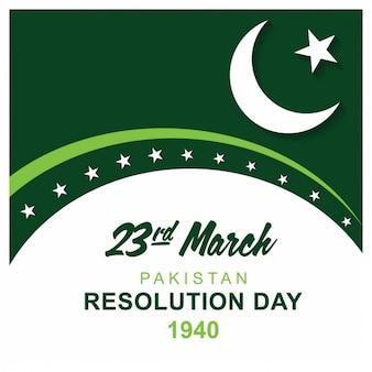 Cartão paquistão dia resolução