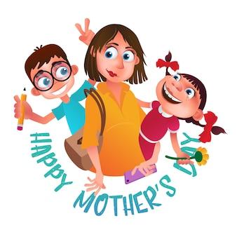 Cartão para feliz dia das mães.