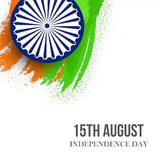 Cartão para o dia da independência da índia-15 de agosto