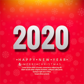 Cartão para o feriado de comemoração do ano novo 2020