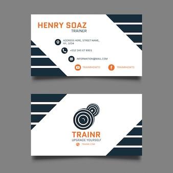 Cartão pessoal do instrutor