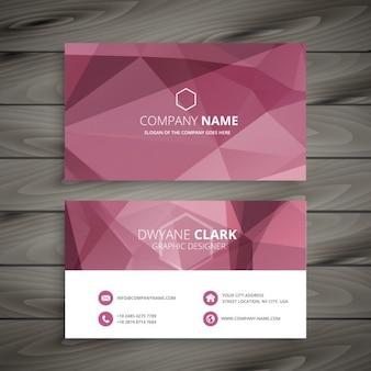 Cartão poligonal abstrata rosa