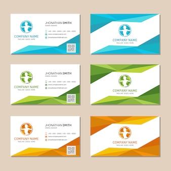Cartão poligonal abstrato do fundo do logotipo
