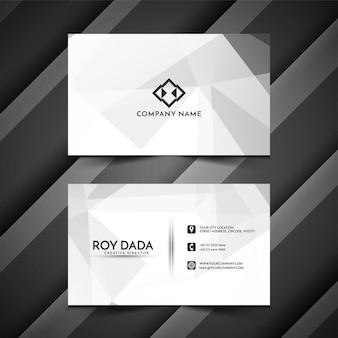 Cartão poligonal moderno