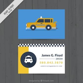 Cartão por um motorista de táxi