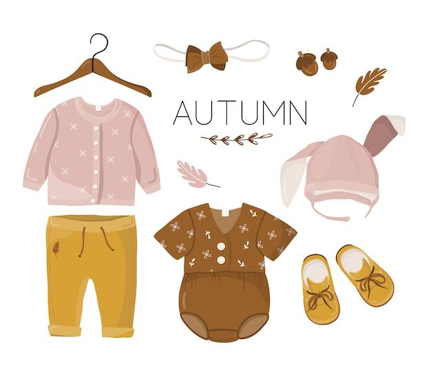 Cartão postal com roupas de crianças.
