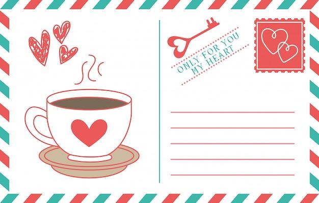 Cartão postal de amor