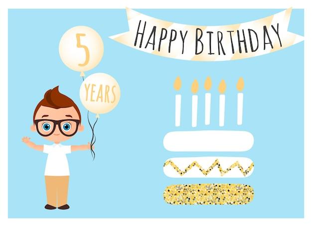 Cartão postal de feliz aniversário fundo de feliz aniversário para panfleto de convite de cartão de banner de cartaz