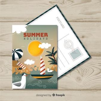 Cartão postal de férias de verão