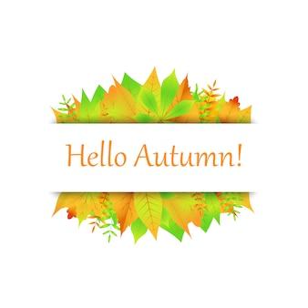 Cartão postal, de, folha outono