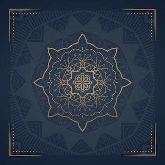 Cartão postal de mandala de ornamento de luxo