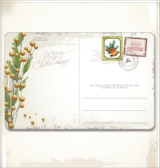 Cartão postal de natal vintage