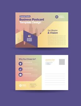 Cartão postal de negócios corporativos ou cartão de convite para salvar a data