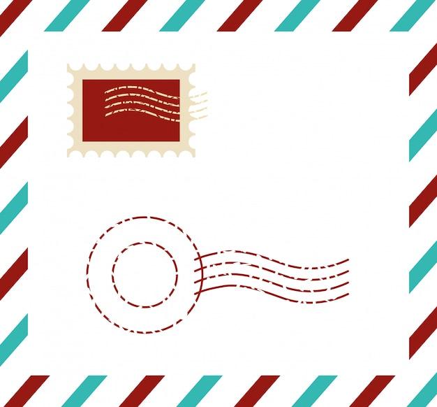 Cartão postal de qualidade premium com carimbo