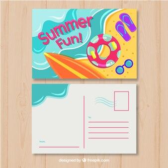 Cartão postal de verão bonito