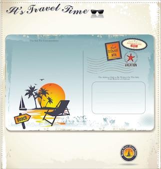 Cartão postal de verão vintage
