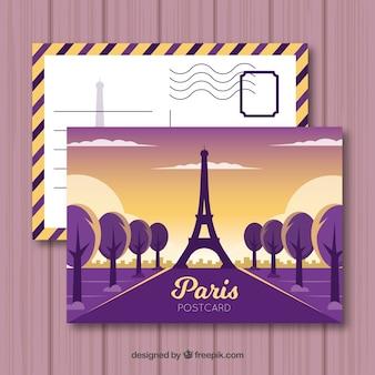 Cartão postal de viagem com destino
