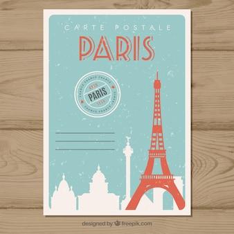 Cartão postal de viagem em estilo vintage