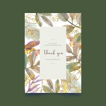 Cartão postal em aquarela floral