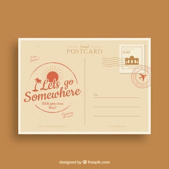 Cartão postal, em, estilo vintage