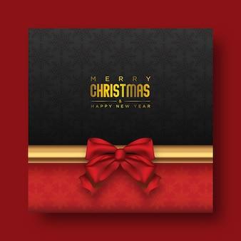 Cartão postal festivo de natal com instagram escuro