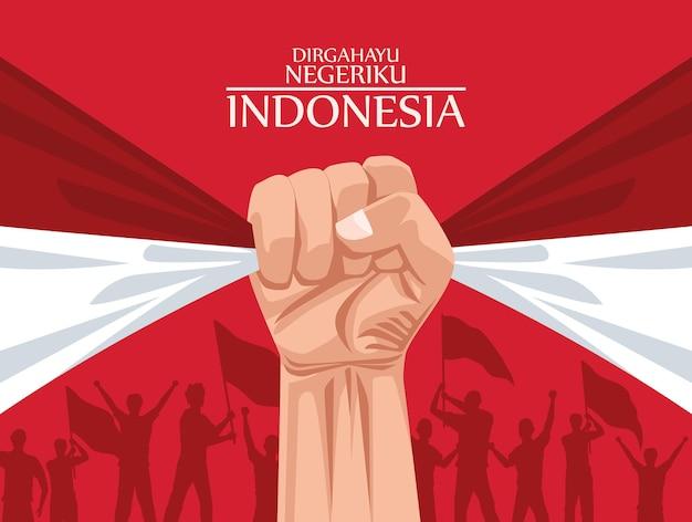 Cartão postal merdeka da indonésia