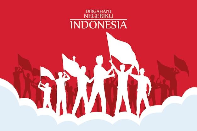 Cartão postal merdeka indonésia