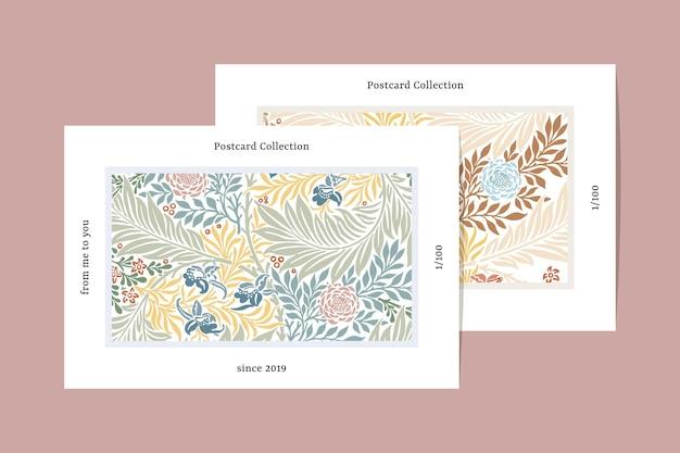 Cartão postal padrão de william morris