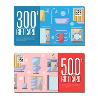 Cartão-presente para móveis de banheiro