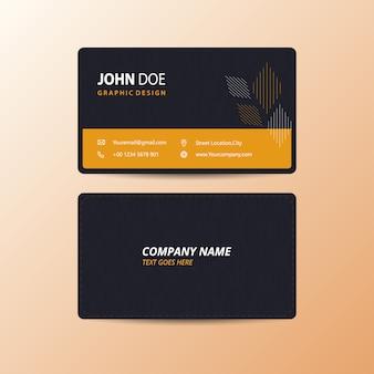 Cartão preto e amarelo