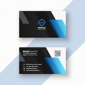 Cartão preto e azul