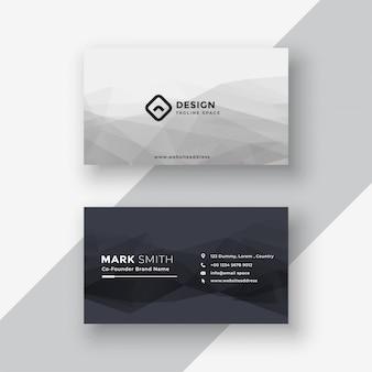 Cartão preto e branco abstrato