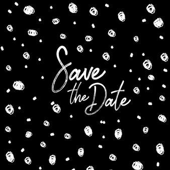 Cartão preto e branco do convite do casamento