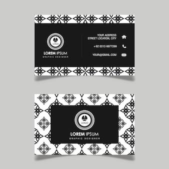 Cartão preto e branco do teste padrão geométrico do vetor