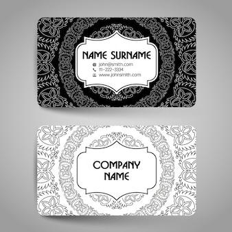 Cartão preto e branco