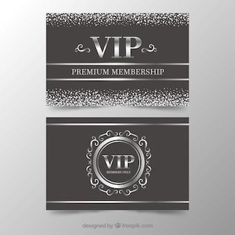 Cartão preto e prata