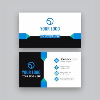 Cartão profissional moderno