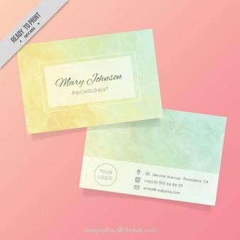 Cartão psicóloga simples