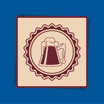 Cartão quadro de bebida de cerveja