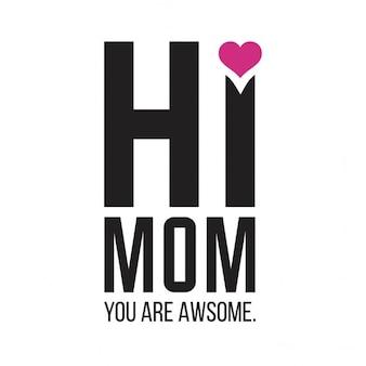 Cartão que desejam mãe